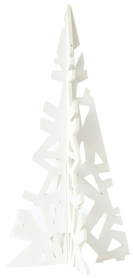 予算義務づける尋ねるasca クリスマス飾り ツリー 30×10.5×10.5cm ホワイト AX68891-001