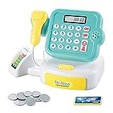 Nihlsen Juguetes para el hogar para niños Mini juguetes de cajero de supermercado Calcular los regalos de las niñas con sonido y luz Juguete de caja registradora