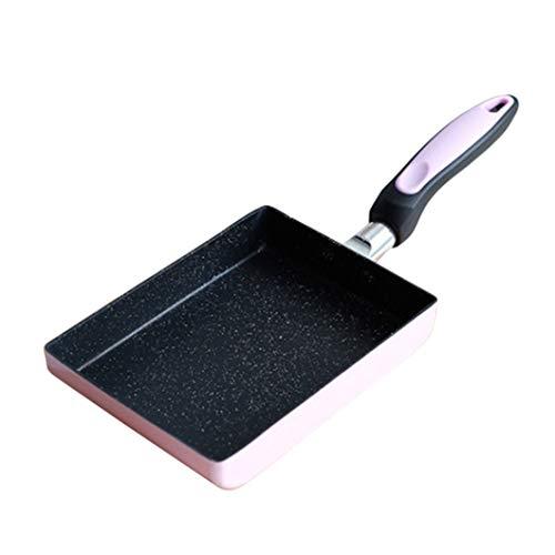 SJHFG Sartén tortilla utensilios de cocina rectángulo antiadherente panqueque cocina cocina accesorios para el hogar, rosa