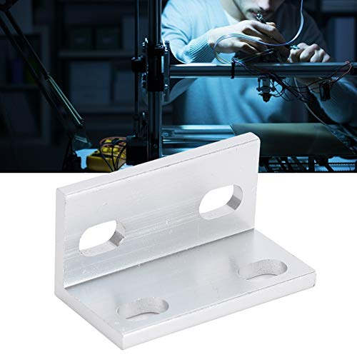 Silver 3D Printer L Bracket, with Aluminum Degree Joint Board for For 3D Printing