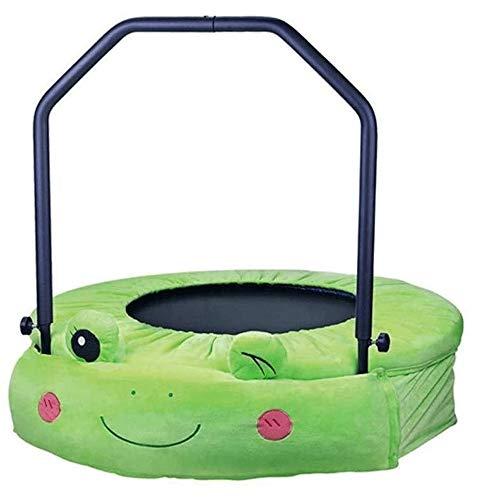 Trampolin Brincolin para Niños y adultos Trampolín for los niños, con la barandilla de seguridad y acolchada cubierta plegable Mini Bungee Rebounder interior / exterior Kids cama elástica Regalo