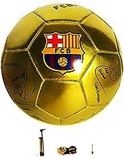 Metallic Golden Color Soccer/ Size 5# FCB Barcelona Commemorative Football. Football commémoratif FCB Barcelone Taille 5. Fútbol Conmemorativo FCB Barcelona Talla 5