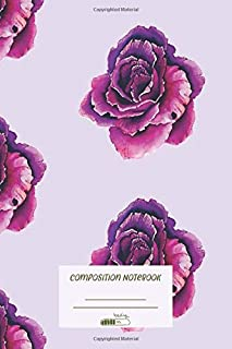 Composition Notebook: Flower Creatives Composition Notebook for Journaling and Daily Writing