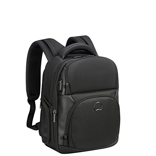 Delsey Paris Quarterback Premium Rucksack, 44 cm, 26 liters, Schwarz (Noir)