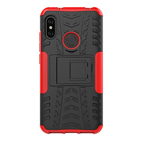 """XiaoMi Mi A2 Lite(5.84"""") Funda, 2in1 Armadura Combinación A Prueba de Choques Heavy Duty Escudo Cáscara Dura para XiaoMi Mi A2 Lite(5.84"""") (Rojo)"""