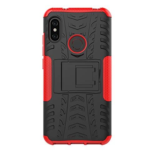 "FaLiAng XiaoMi Mi A2 Lite(5.84"") Funda, 2in1 Armadura Combinación A Prueba de Choques Heavy Duty Escudo Cáscara Dura para XiaoMi Mi A2 Lite(5.84"") (Rojo)"