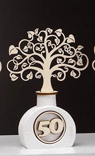 Bomboniere Profumatore Albero della Vita in Resina MOD. 50 Anniversario Matrimonio Mis 14,5 cm