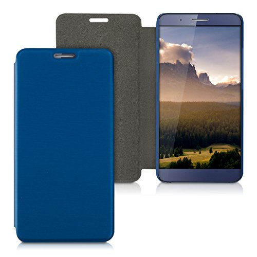 kwmobile Hülle kompatibel mit Huawei ShotX - Handy Hülle Handyhülle - Schutzhülle Klapphülle in Blau