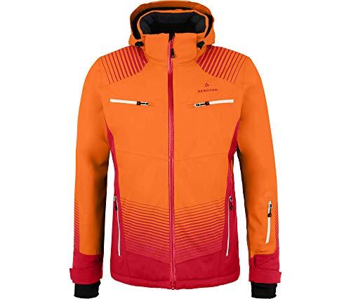 Bergson Herren Skijacke Steel, Persimmon orange [513], 54 - Herren