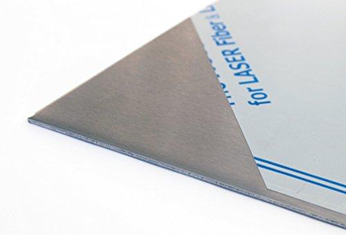 3 mm Edelstahlblech V2A 1.4301 K240 geschliffen einseitig Folie 400 400