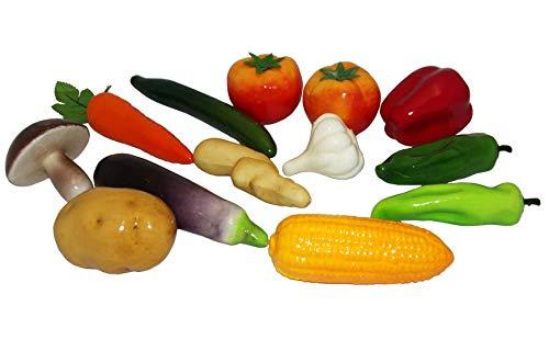 Juego de verduras artificiales, decorativas y realistas, 13 unidades