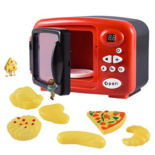 AIHOME Juguete de los niños de la cocina Super Chef Mi primer horno de microondas réplica con luz y sonidos