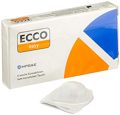 ECCO easy AS Monatslinsen weich, 6 Stück / BC 8.70 mm / DIA 14.40 mm / + 2.75 Dioptrien
