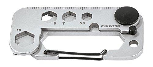 Moses Expedition Natur Multi-Tool | 15 in 1 Multifunktionswerkzeug | Für Camping und Outdoor Werkzeug, Silber, n.V