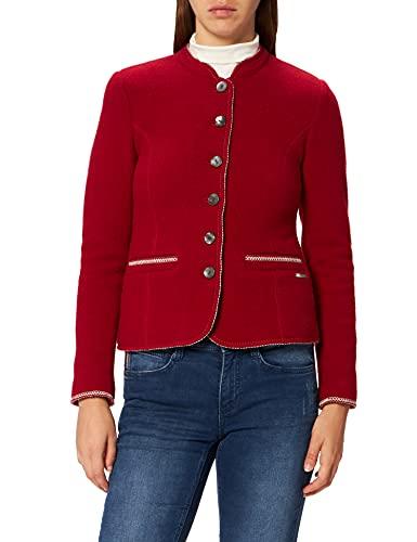 GIESSWEIN Chaqueta para mujer Agnes – Blazer de 100 % lana, elegante chaqueta de mujer de lana virgen, chaqueta para traje regional para mujer, chaqueta entallada Blazer, Walk, fieltro Color rojo. 40