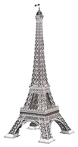 Escultura de escritorio Torre Eiffel Modelo arquitectónico Paris Landmark Assembly Crafts Sculpture Decoración de metal Estatua 3D Puzzle Travel Souvenir Arquitectura Arte Figurines
