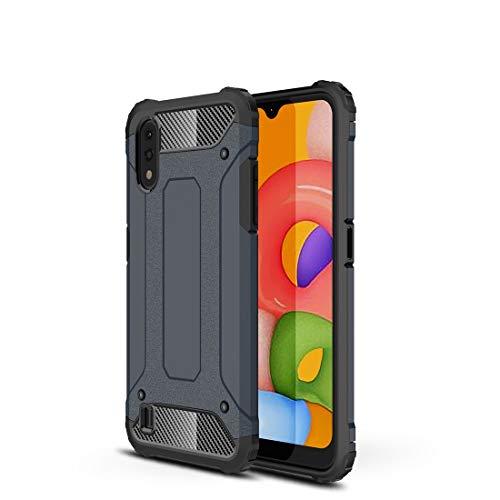 Carcasa de acero para Samsung Galaxy A01, resistente y duradera, funda protectora de grado militar, goma interior suave de TPU + PC avanzada (color de Nany Color).