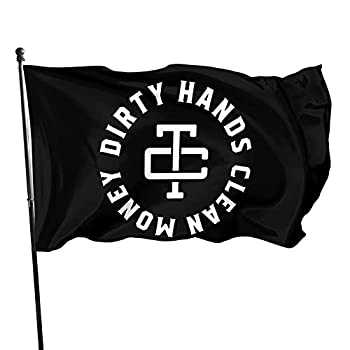 DASCOM Dirty Hands Make Clean Money Flag 3  X 5  Indoor Outdoor Banner Home Garden Decoration