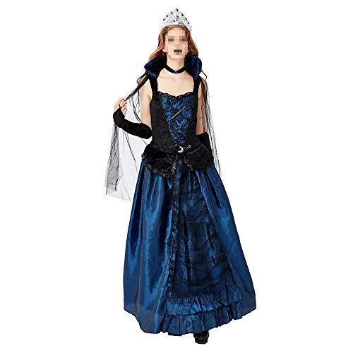 Disfraz Halloween, Carnaval Disfraz Cosplay para Disfraz Halloween Cosplay,Fiesta Disfraces Fiesta Azul Demon Court Dress Up Queen Earl Dress Disfraz De Vampiro