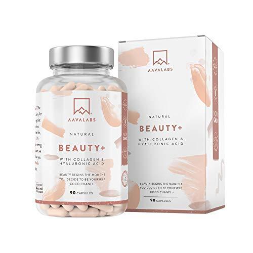 Collagene et Acide Hyaluronique gelules [ 2500 mg ] Complement Alimentaire Peau - Premium Collagen Complex avec Vitamine C Zinc, Selenium et Biotine - Vitamine Cheveux - 90 collagene gelules