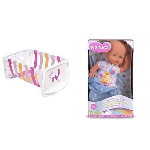 Nenuco Cuna de ensueño (Famosa 700010309) + Recién Nacido Muñeco Infantil con Sonidos de Bebé (700015452)