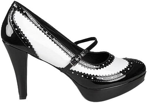 Chaussures noire et blanche vernies femme femme - Pointure 41  offre spéciale