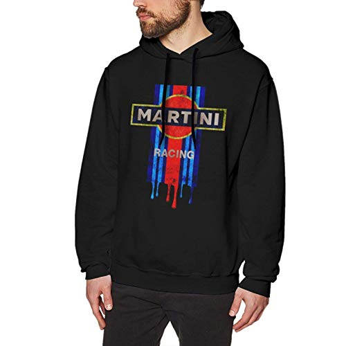Hdadwy Vintage Martini Racing Long Sleeve Pullover Hoodies Casual Light Hooded Sweatshirt