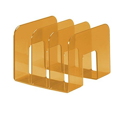 Durable 1701395009 - Porta Cataloghi Trend, 3 Comparti, per Cataloghi e Brochure, 215 x 165 x 210 mm, Arancione