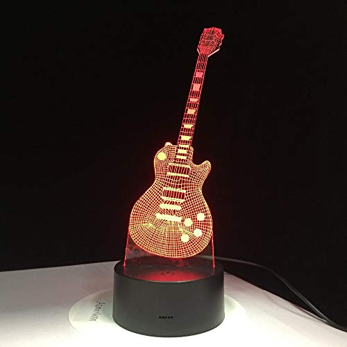 Tischlampenbabyschlafnachtlichtmusik-Saxophondekoration der E-Gitarre helle Bunte mit Fernsteuerungskindergeschenk