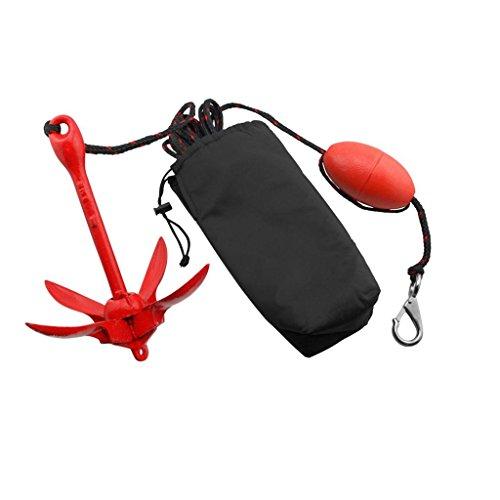 MagiDeal Pliage 1,5 Kg Kit Bouée d'ancrage pour Canoë Kayak Bateau Voilier Pêche Jet Ski