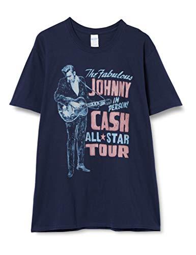 Johnny Cash JCTS14MN03 T-Shirt, Blue, Large