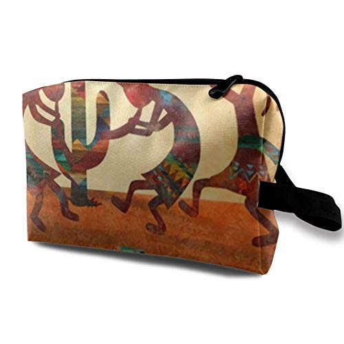 XCNGG Unisex Toiletry Bags Fashion Cosmetic Bag Multifunction Travel Makeup Bags Southwest Native American Kokopelli