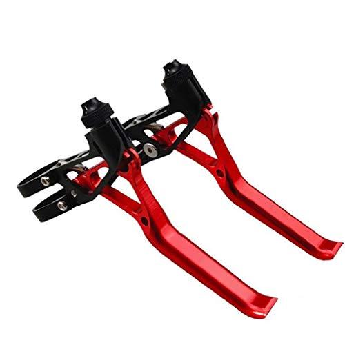asdfwe Los Frenos De Bicicletas Palancas De Freno De Mano para Bicicletas Bicicletas, Aleación De Aluminio De MTB Bicicleta De La Bici Nivel Frenado Asas De Color Rojo Colorido