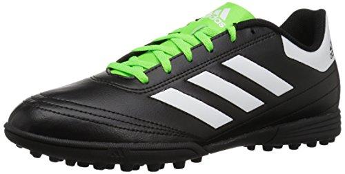 adidas Men's Goletto VI TF Soccer Shoe, Black/White/Solar Green, 9.5 M US