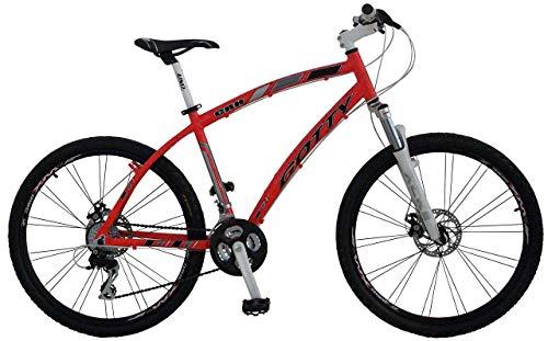 """Gotty - Bicicleta de montaña 26"""" CRH, MTB Caballero Aluminio 26"""", con suspensión Zoom Gama Alta, Cambio Altus Shimano de 21 velocidades y Frenos de Disco."""