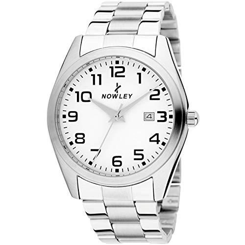Reloj para Hombre Nowley 8-7018-0-0 - con Caja y armis de Acero Inoxidable y Esfera Blanca.