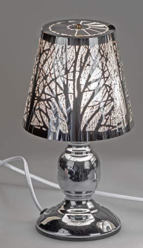 formano Tischlampe, Leuchte Baum H. 26cm D. 14cm mit Touch Silber