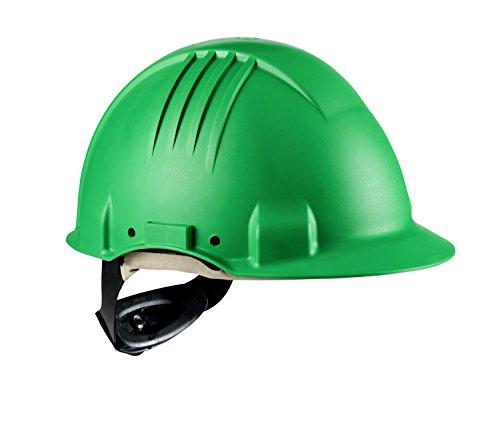 3M G3501M-GP Casco de Seguridad, Arnés de ruleta, Banda sudor cuero, Verde ✅
