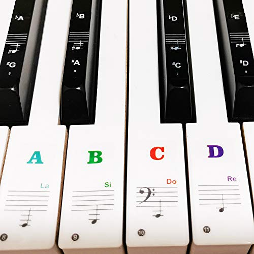 Our #4 Pick is the Yalloy Colorful Piano Keyboard Stickers
