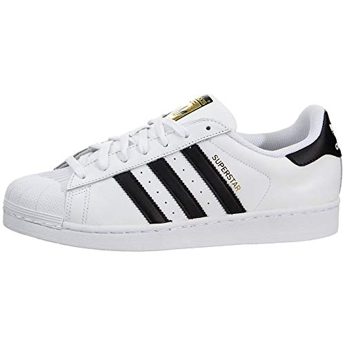 adidas Originals Women's Superstar Sneaker, White/Black/White, 8