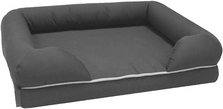 Letto per cani in memory foam croci lettino per cani misura L formato 112x86 cm grigio C2178597