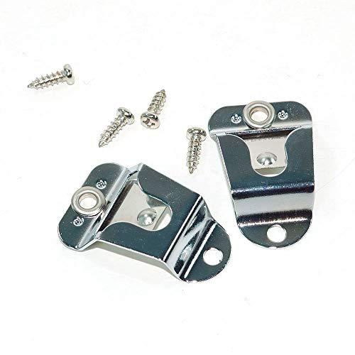 AEcreative 2 pcs Microphone Holder Hang-up Clip for Motorola Kenwood Uniden...