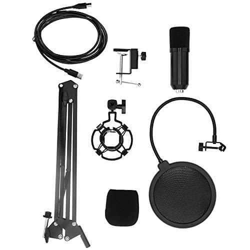 Gaeirt Kit de micrófono USB, micrófono de PC Plug and Play con Soporte antivibración de micrófono para charlas en línea de Windows(Flat Head Microphone)
