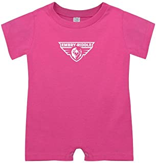 CollegeFanGear Embry Riddle Prescott Bubble Gum Pink Infant Romper 'Athletic Mark'