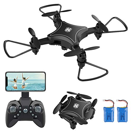 PROACC Faltbare Mini drohne mit Kamera, WiFi FPV 2,4 GHz Quadcopter mit 1080P-Kamera für Kinder Erwachsene Anfänger (Sprachsteuerung, Höhe-halten, 360 ° -Rollen, Headless-Modus) (B)