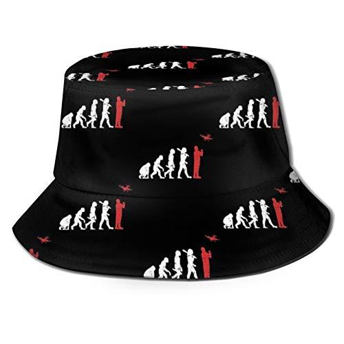 Popluck Drone Pilot Evolution Unisex Bucket Hat Pescatore Cappello Sole Cappello Pieghevole Stampa 3D Outdoor Beach Hat