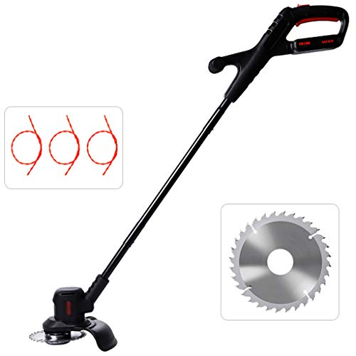 Why Should You Buy QINXUESHOP Cordless Grass Brush Cutter Weed Whacker Trimmer with String and Cutte...