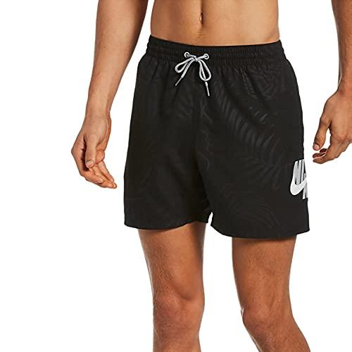 Nike Volley - Costume da Bagno da Uomo, Uomo, Costume da Bagno, NESSB456-001, Nero, L