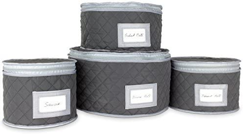 Fine China Storage - Set of for Quilted Cases Dinnerware 4 Ranking Now free shipping TOP11 Stora