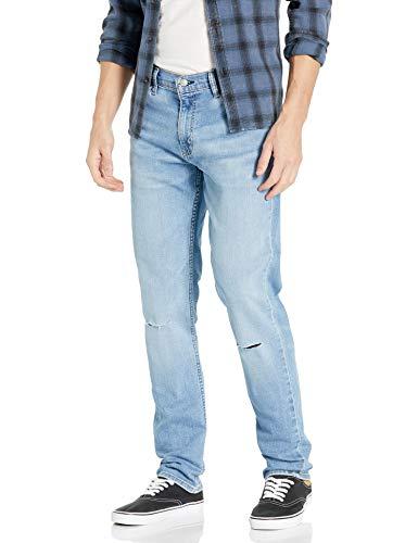 Levi's Herren 511 Slim Fit Jeans, Homestead Wood-Destructed-Advanced Stretch, 28W / 30L